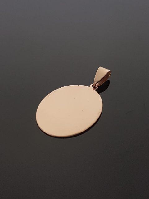 Medailón z ružového zlata, rozmery: 27x19 mm