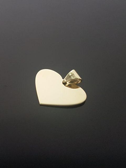 Zlatý prívesok srdce rozmery: 20x15 mm