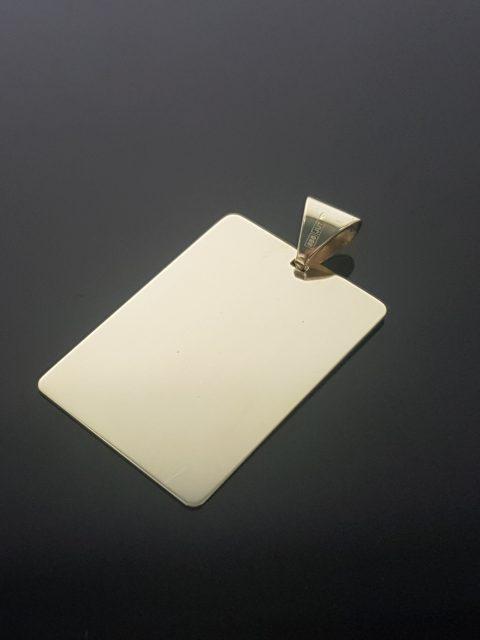 Zlatý prívesok, rozmery: 32x22 mm