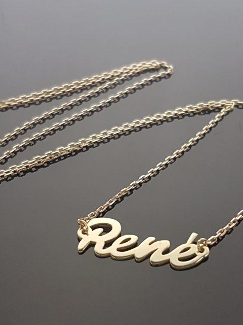 Zlatý náhrdelník, rozmery prívesku: 25x9 mm