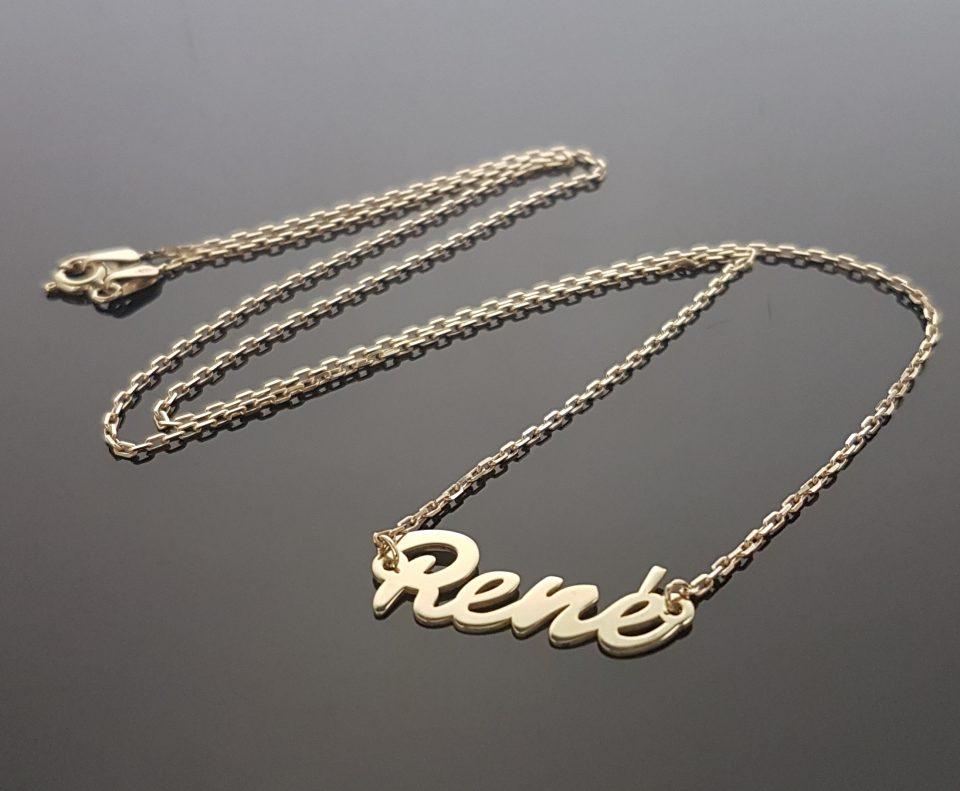 """Zlatý náhrdelník """"René"""" 522c8a3b340"""